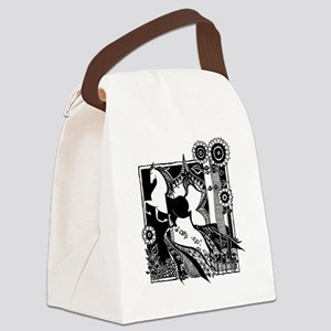 iTouch4_Case_2.272x4.12_horse_bla Canvas Lunch Bag