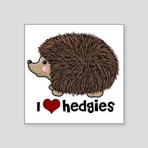 "hearthedgies Square Sticker 3"" x 3"""