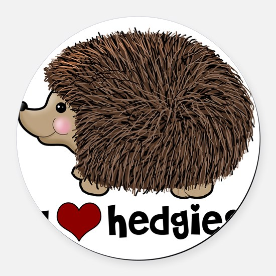 hearthedgies Round Car Magnet