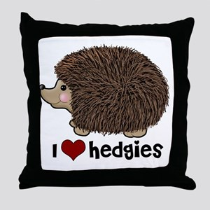hearthedgies Throw Pillow