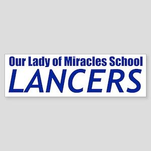 Lancers Transp Blue Sticker (Bumper)