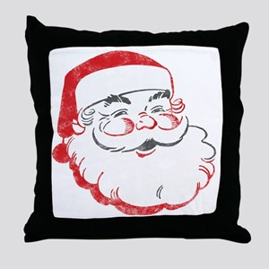 Smiling Santa Face Throw Pillow