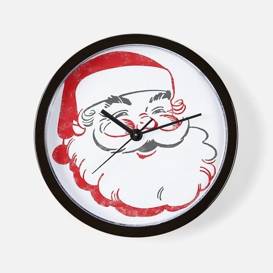Smiling Santa Face Wall Clock