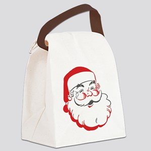 Santa Canvas Lunch Bag