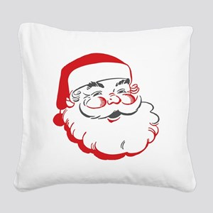Santa Square Canvas Pillow