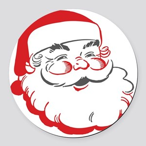Santa Round Car Magnet