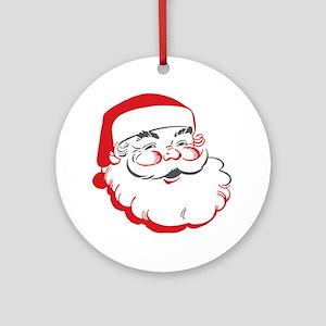 Santa Round Ornament