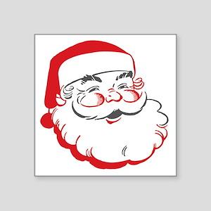 """Santa Square Sticker 3"""" x 3"""""""