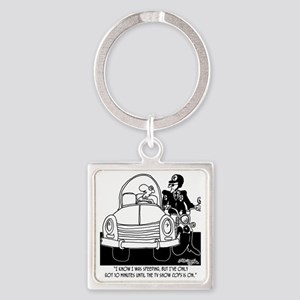 8261_speeding_cartoon Square Keychain
