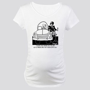 8261_speeding_cartoon Maternity T-Shirt