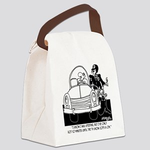 8261_speeding_cartoon Canvas Lunch Bag