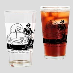 8261_speeding_cartoon Drinking Glass