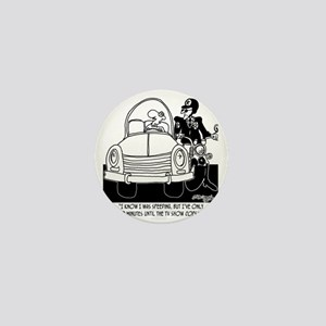 8261_speeding_cartoon Mini Button