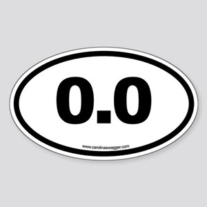 0.0 NO RUNNING Black Sticker