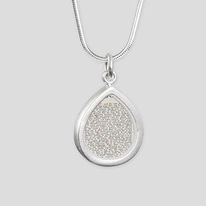 desiderata  Silver Teardrop Necklace