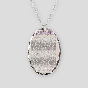 desiderata  Necklace Oval Charm