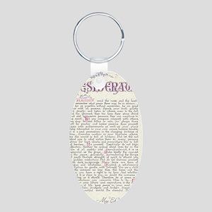 desiderata  Aluminum Oval Keychain