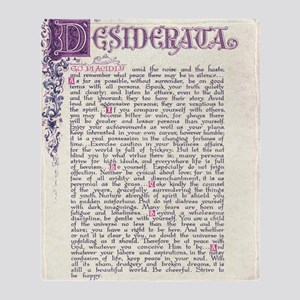 desiderata  Throw Blanket