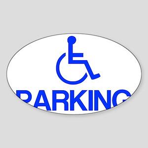 parking Sticker (Oval)