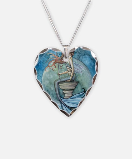 Jade Moon cp Necklace Heart Charm