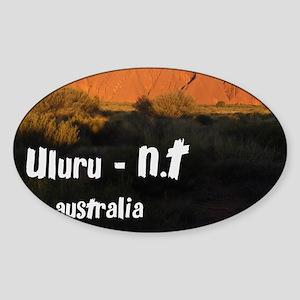 uluru2 Sticker (Oval)