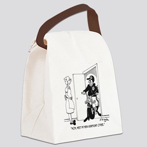 5469_relationship_cartoon Canvas Lunch Bag