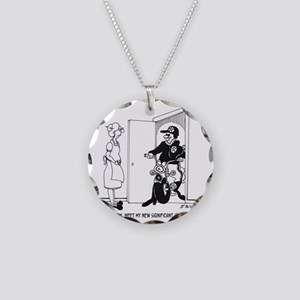 5469_relationship_cartoon Necklace Circle Charm