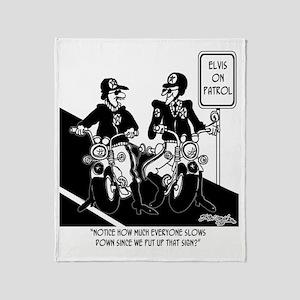 6270_Elvis_cartoon Throw Blanket