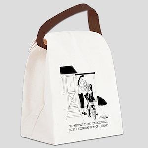 5090_baby_cartoon Canvas Lunch Bag