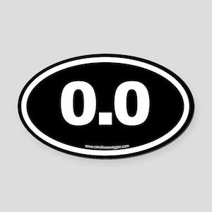 0 Oval Car Magnet