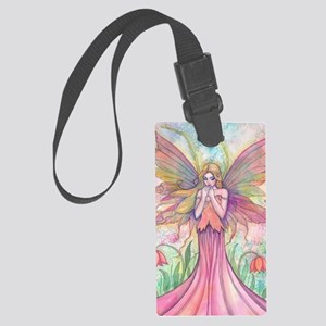 wildflower wide for ipad case Large Luggage Tag