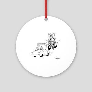 4288_patrolman_cartoon_JAC Round Ornament