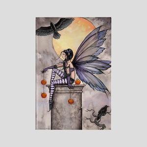 Autumn Raven Rectangle Magnet