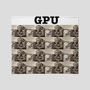 gpu_monkey Throw Blanket