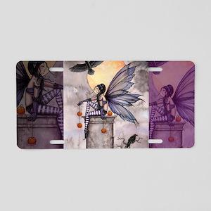 autumn raven for clutch bag Aluminum License Plate