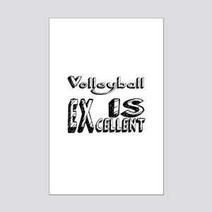 Volleyball Is Excellent Mini Poster Print