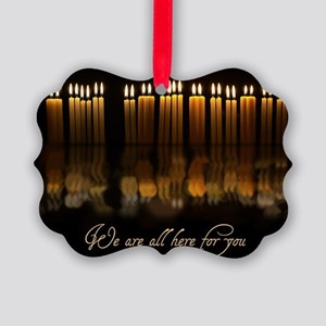 Candles in Memory Picture Ornament