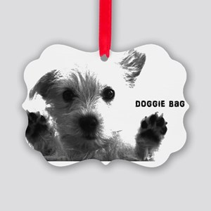 cute dog doggie bag with cute dog Picture Ornament