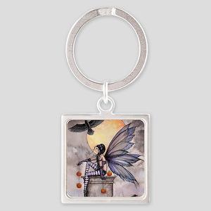 autumn raven square for cp Square Keychain