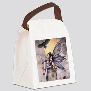 autumn raven square for cp Canvas Lunch Bag