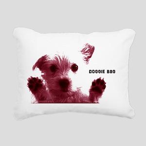 cute dog red doggie bag  Rectangular Canvas Pillow