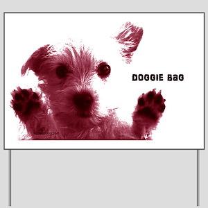 cute dog red doggie bag shoulder bag cop Yard Sign