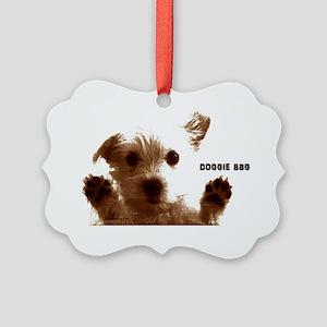 cute doggie bag brown accessories Picture Ornament