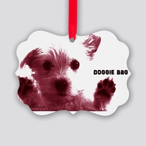 cute dog red doggie bag accesory  Picture Ornament