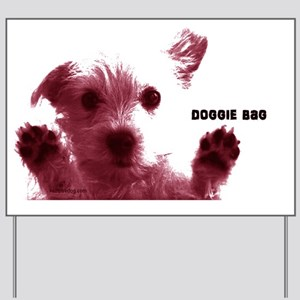 cute dog red doggie bag accesory bags co Yard Sign