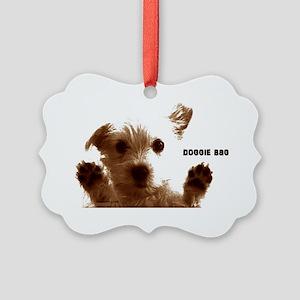 cute doggie bag brown shoulder ba Picture Ornament