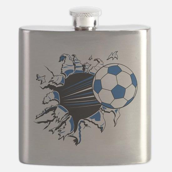 Soccer Ball Burst Flask