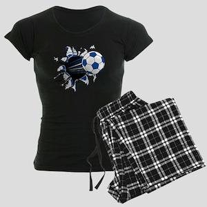 Soccer Ball Burst Women's Dark Pajamas