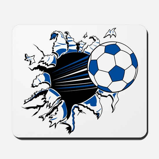 Soccer Ball Burst Mousepad