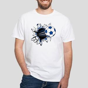 Soccer Ball Burst White T-Shirt